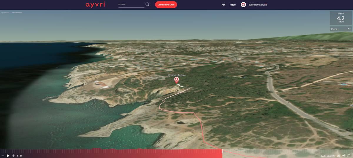 3D Vorschau Fernwanderung Algarve