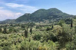 Corfu Trail Radarstation auf etwas über 500 Metern Höhe