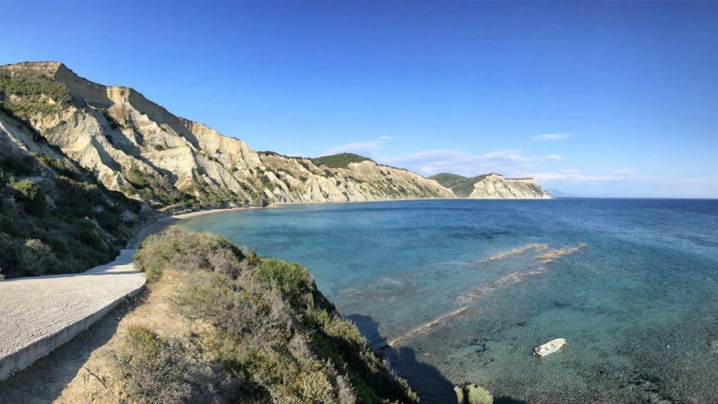 Corfu Trail km 05 Südspitze einsamer Strand und toller Auftakt für die Fernwanderung