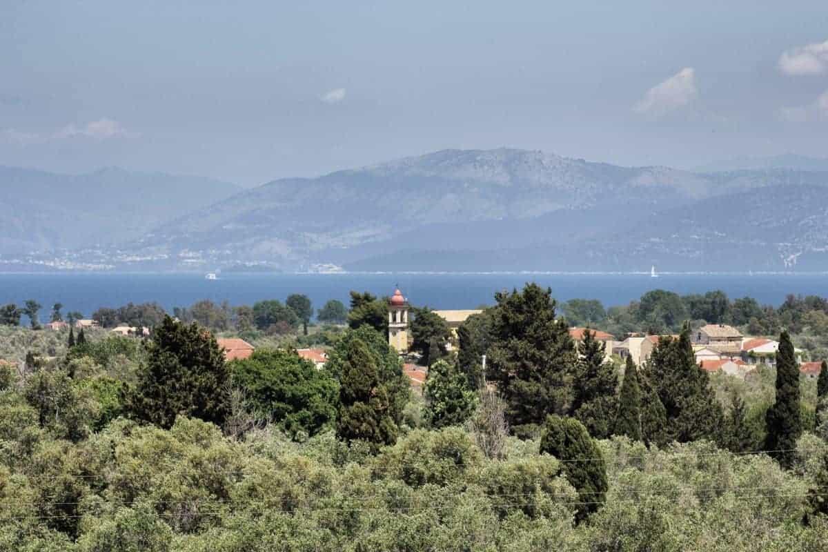 Corfu Trail km 23 Blick in Richtung Festland