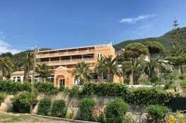 Corfu Trail km 50 Etappe 3 Übernachtung in Paramonas Hotel Paramonas