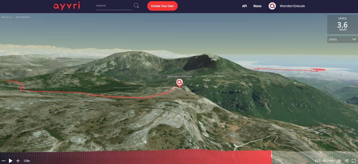 Fernwanderung Nizza Grasse 5 Tage 3D Vorschau