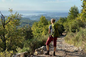 Fernwanderung Nizza Grasse aussichtsreicher Anstieg bei Saint Jeannet