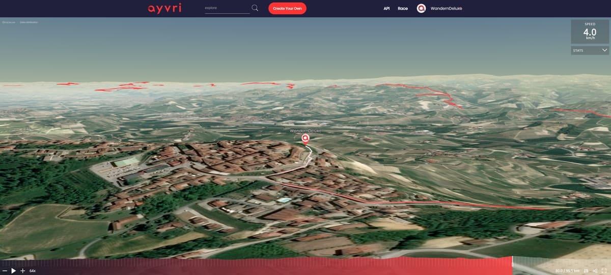 Fernwanderung Wandern von Weingut zu Weingut im Piemont 3D Vorschau Ayvri