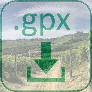 GPX Dateidownload Fernwanderweg Weinwanderung Piemont
