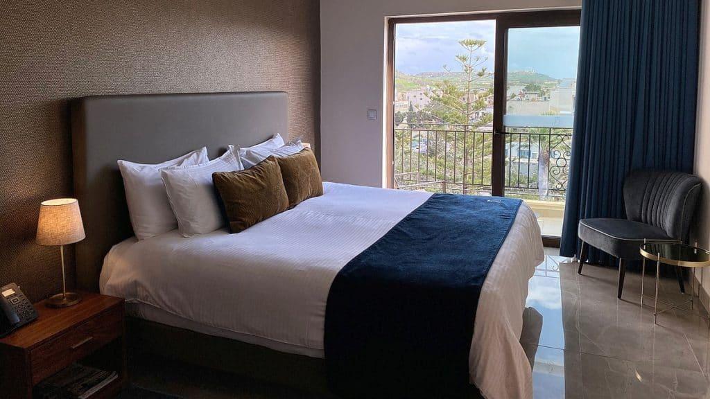 Gozo Victoria Hotel The Duke Großzügige Zimmer im obersten Stock mit Balkon 16 9