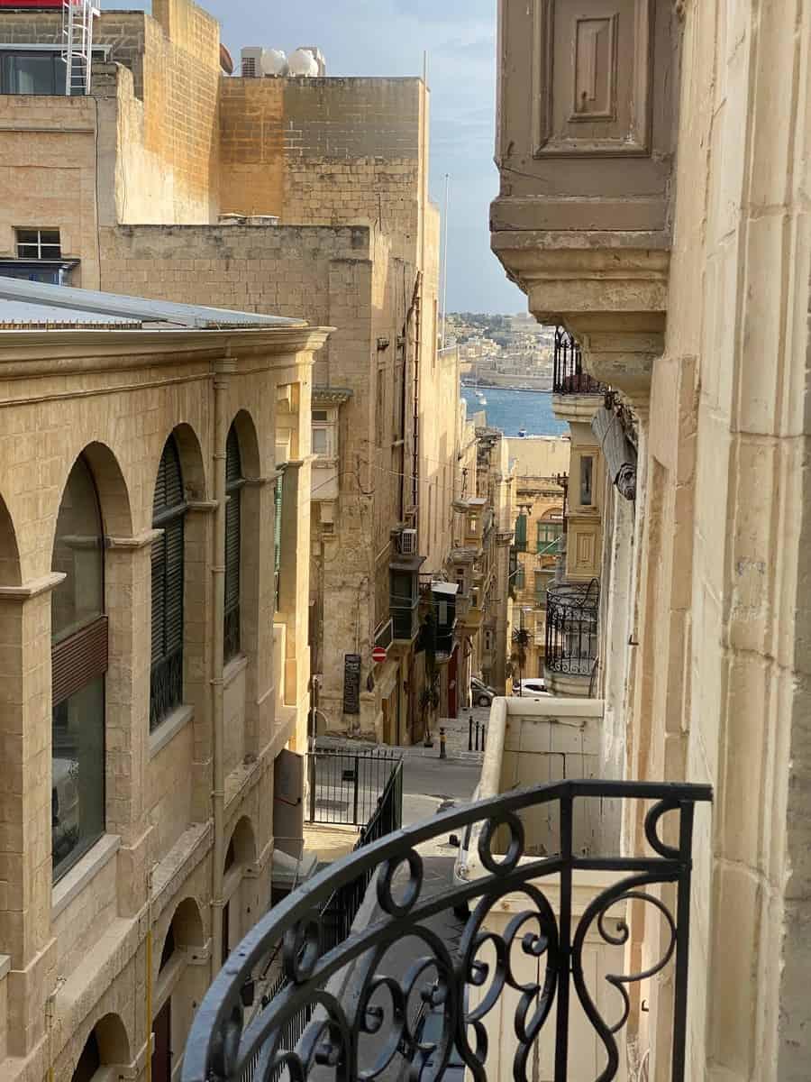 Hotels auf Malta Ausblick vom Balkon
