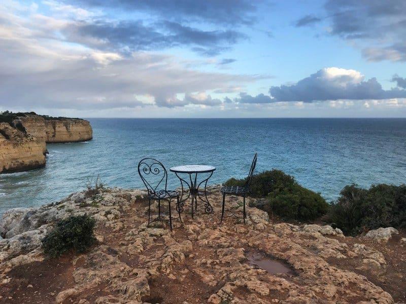 Küstenwanderung Algarve Carvoeiro Pestana Palm Gardens Hotel Resort romantischer Aussichtspunkt bei Carvoeiro