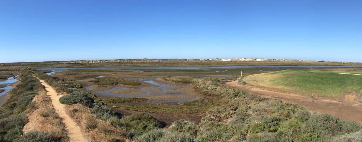 Küstenwanderung Algarve Etappe 1 04 die vielfältige Lagunenlandschaft der Ria Formosa