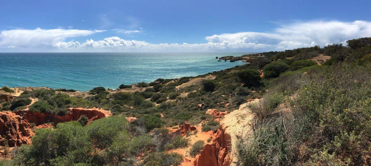Küstenwanderung Algarve Etappe 2 12 wunderschöne Küste kurz hinter der Marina de Albufeira