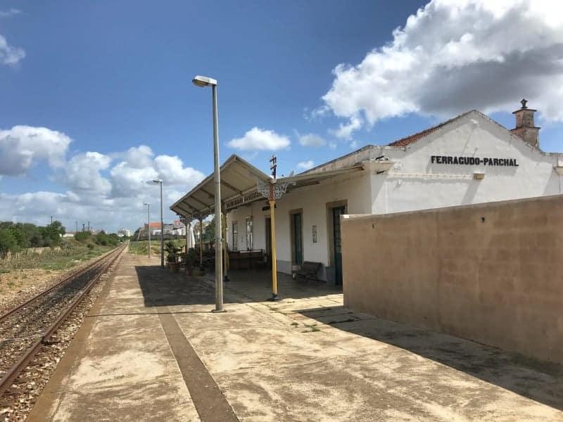 Küstenwanderung Algarve Etappe 4 24 Bahnhof Ferragudo