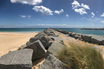 Küstenwanderung Algarve Etappe 5 01 An der Mündung der Ria de Alvor