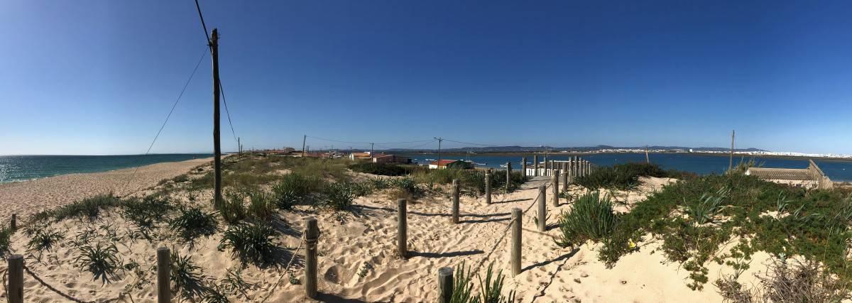 Küstenwanderung Algarve Faro Luxury Beach Guest House die Landzunge von Faro Praia