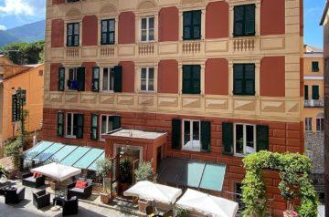 Ligurische Küste Cinque Terre Fernwanderung Etappe 1 Unterkunft in Camogli 4