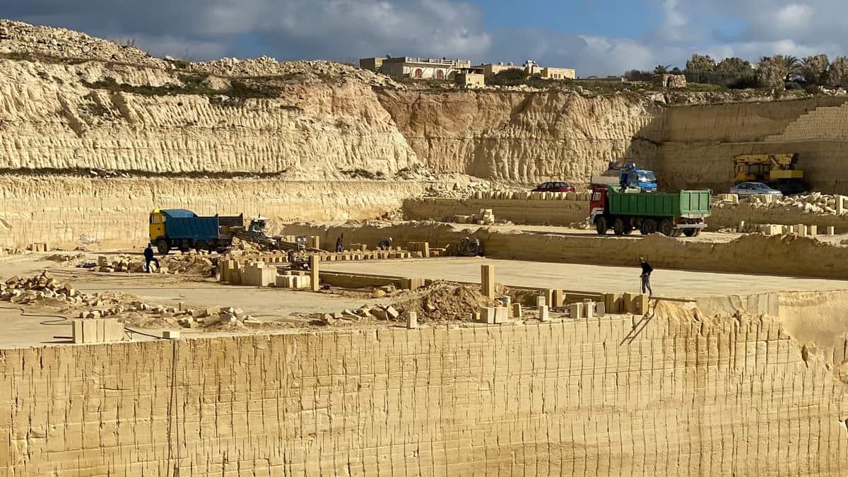 Malta und Gozo aus Kalkstein erbaut Steinbruch auf Gozo 2