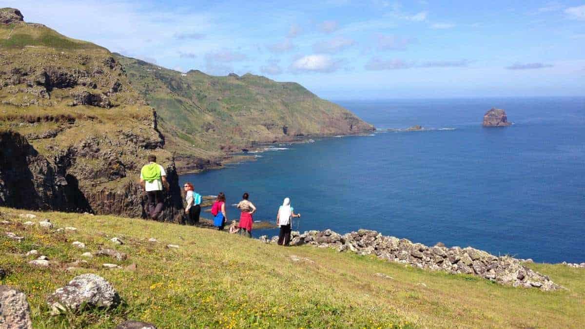 Santa Maria Azoren Ilha a pe Landschaft Ausblick 1