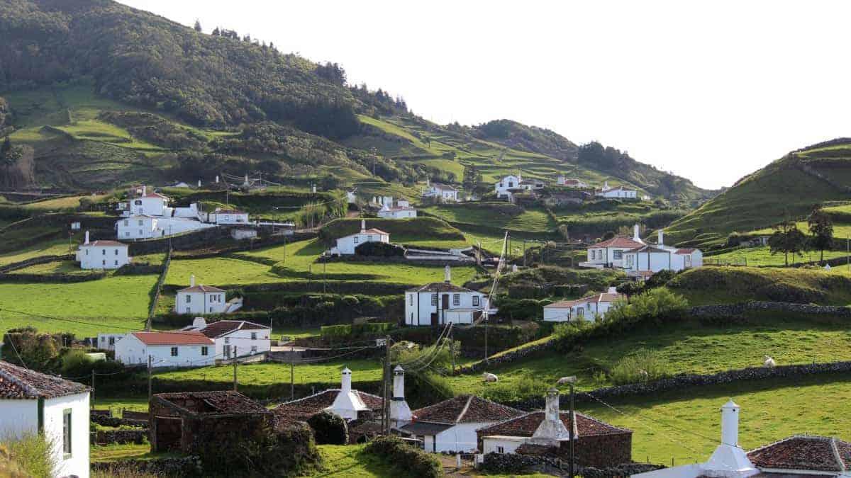 Santa Maria Azoren Ilha a pe Landschaft Ausblick 2
