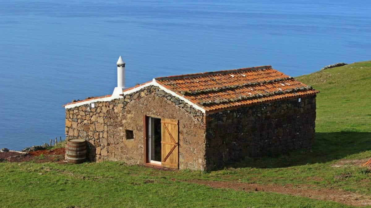 Santa Maria Azoren Ilha a pe renovierte Schäfterhütte 1