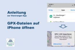 Viewranger App Anleitung GPX Dateien auf iPhone öffnen wanderndeluxe