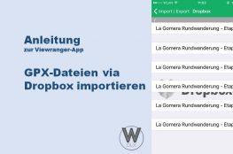 Anleitung zur Viewranger-App: GPX-Dateien via Dropbox importieren