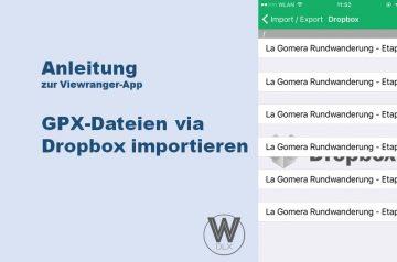 Viewranger App Anleitung GPX Dateien via Dropbox importieren wanderndeluxe