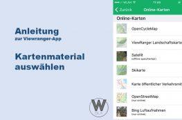Anleitung zur Viewranger-App: Kartenmaterial für Offline-Verwendung downloaden