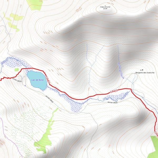 Vorschau PDF Wanderkarte Korsika GR 20 Teil 1 Auflösung 300dpi