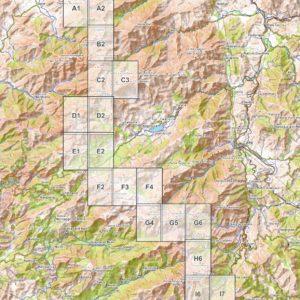 Vorschau PDF Wanderkarte Korsika GR 20 Teil 1 Blattübersicht