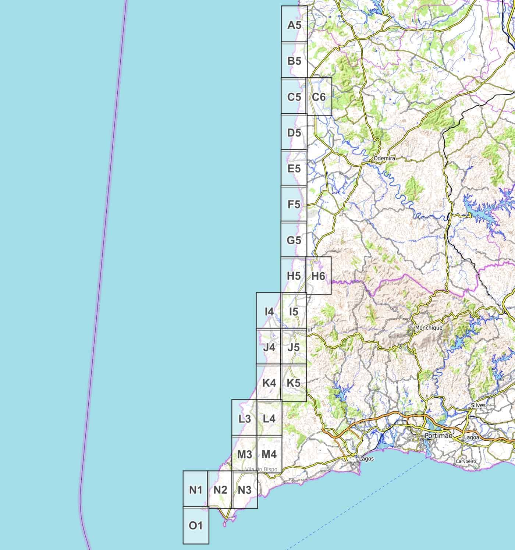 Cartina Del Portogallo Da Stampare.Rota Vicentina Fischerpfad Cartina Escursionistica Pdf Da Scaricare 1 25 000 Wanderndeluxe