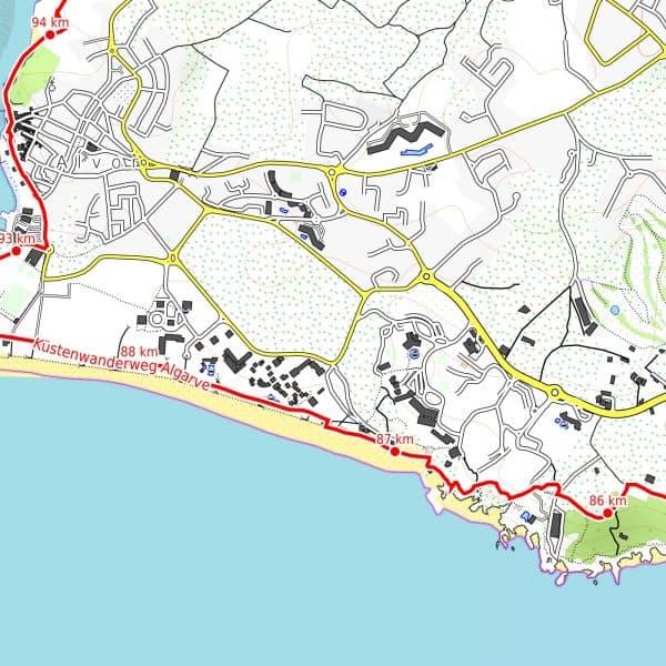 Vorschau pdf Wanderkarte Algarve Faro Alvor Auflösung 300 dpi