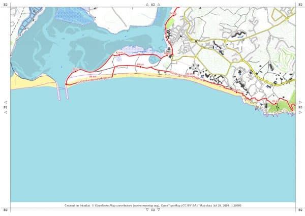 Vorschau pdf Wanderkarte Algarve Faro Alvor Blatt B2 mit Rahmen