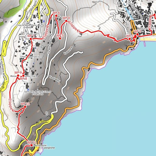 Vorschau pdf Wanderkarte Amalfiküste Auflösung 300 dpi