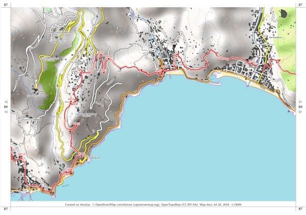 Vorschau pdf Wanderkarte Amalfiküste Blatt B7