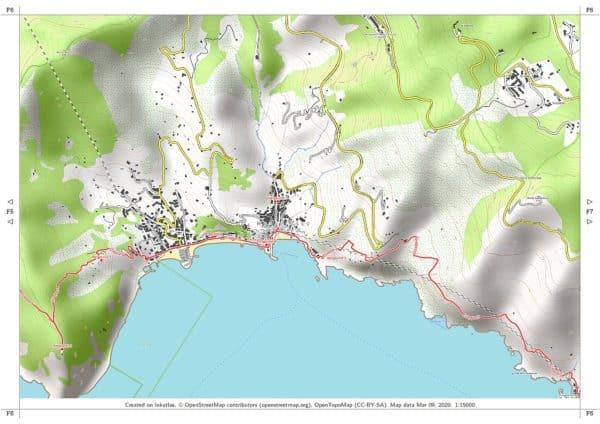 Vorschau pdf Wanderkarte Cinque Terre Blatt F6