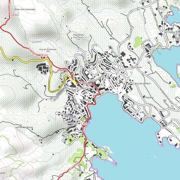 Vorschau pdf Wanderkarte Costa Brava Teil 1 Auflösung 300 dpi