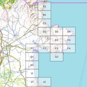 Vorschau pdf Wanderkarte Costa Brava Teil 1 Blattübersicht