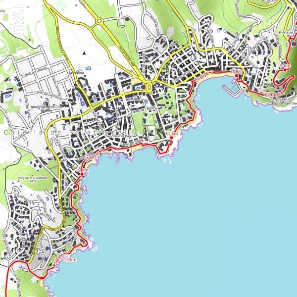 Vorschau pdf Wanderkarte Costa Brava Teil 2 Auflösung 300 dpi