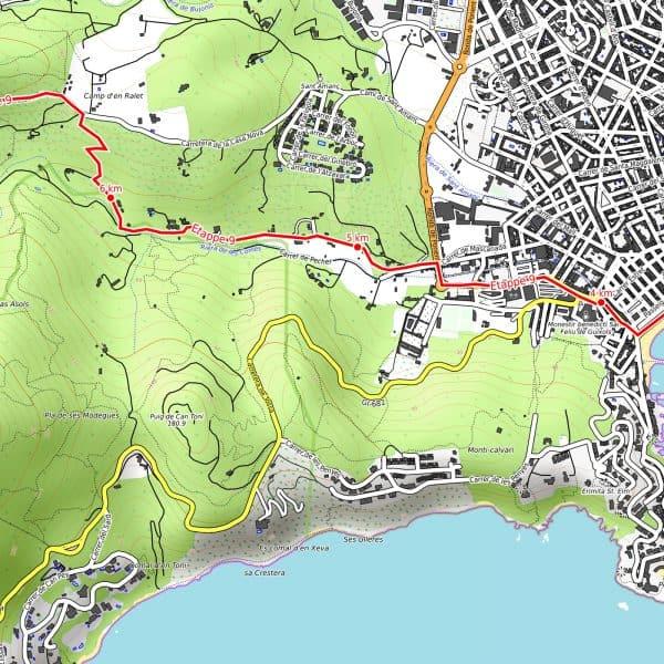 Vorschau pdf Wanderkarte Costa Brava Teil 3 Auflösung 300 dpi