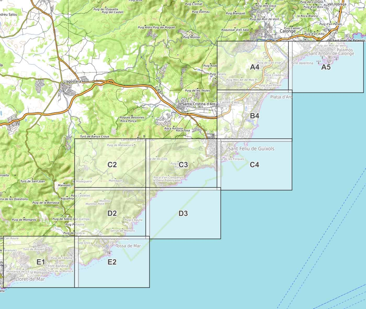 Spagna Costa Brava Cartina.Costa Brava Parte 3 Sud Cartina Escursionistica Pdf Da Scaricare 1 20 000 Wanderndeluxe