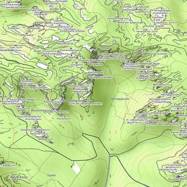Vorschau pdf Wanderkarte Elbsandsteingebirge 300 dpi