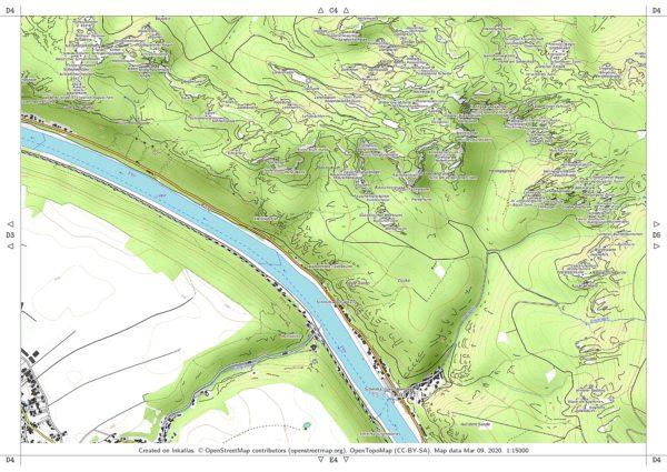 Vorschau pdf Wanderkarte Elbsandsteingebirge Blatt D4