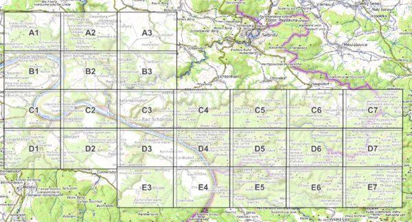 Vorschau pdf Wanderkarte Elbsandsteingebirge Blattuebersicht