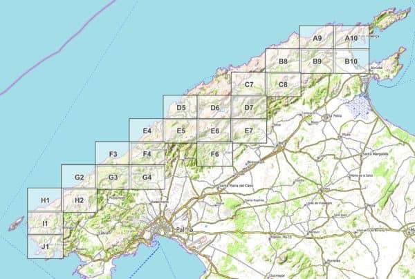 Vorschau pdf Wanderkarte GR 221 Mallorca Blattübersicht 24