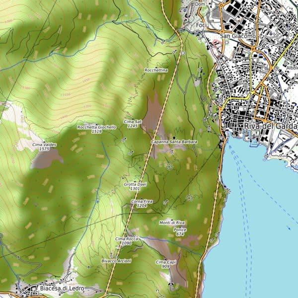 Vorschau pdf Wanderkarte Gardasee Norden Aufloesung 300 dpi
