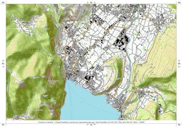 Vorschau pdf Wanderkarte Gardasee Norden Blatt B4