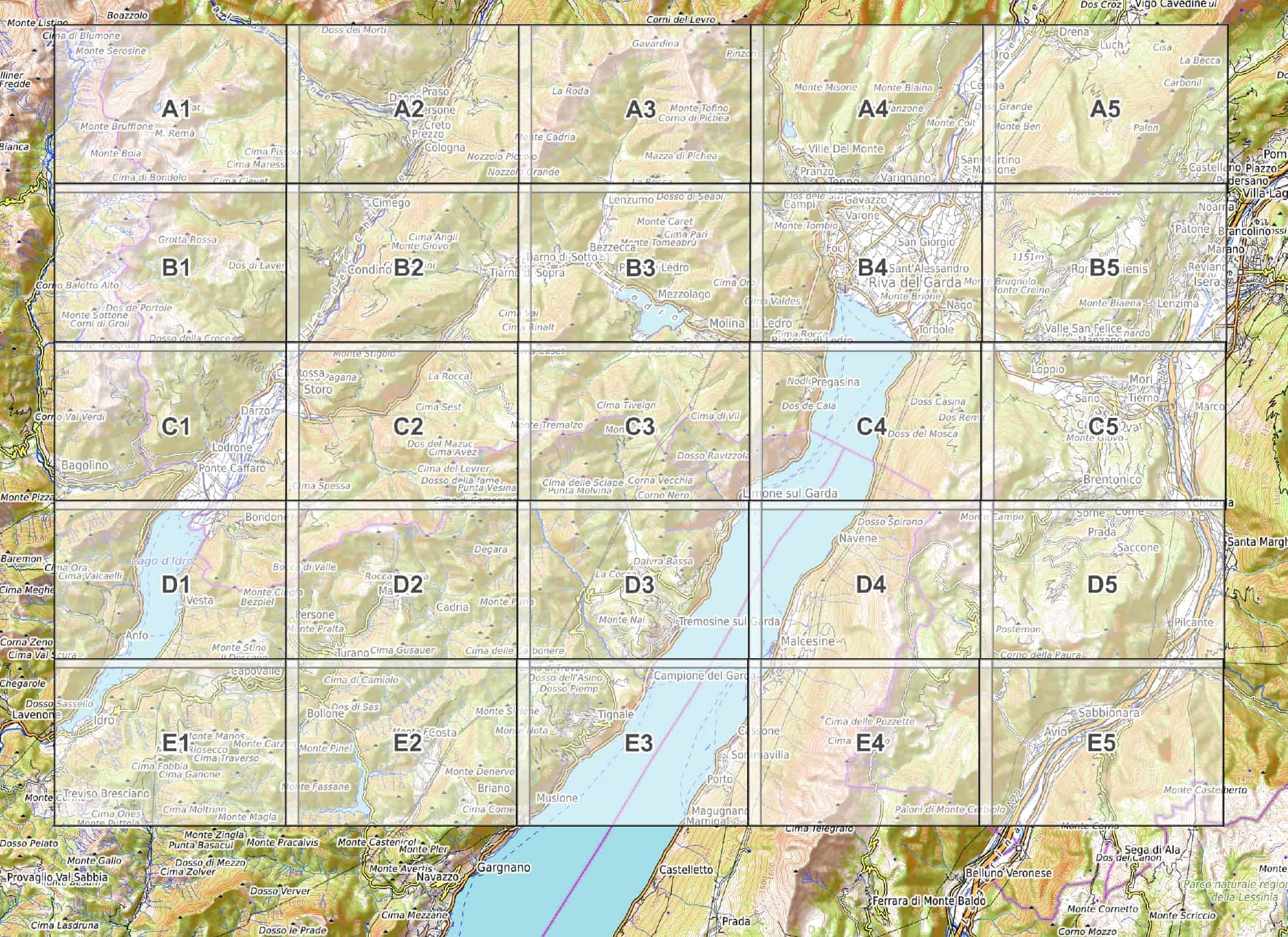 Cartina Nord.Lago Di Garda Nord Cartina Escursionistica Pdf Da Scaricare 1 33 000 Wanderndeluxe