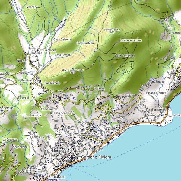 Vorschau pdf Wanderkarte Gardasee Sueden Aufloesung 300 dpi