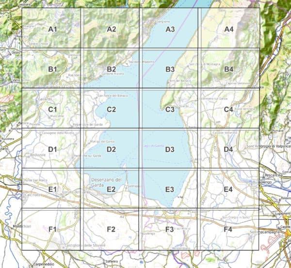 Vorschau pdf Wanderkarte Gardasee Sueden Blattuebersicht