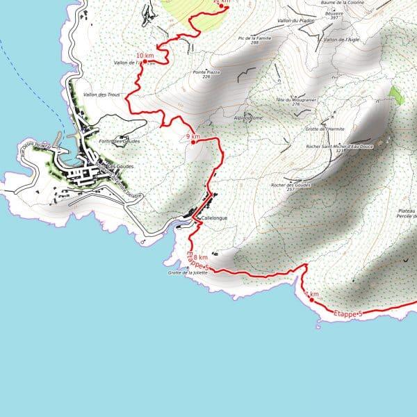 Vorschau pdf Wanderkarte Küstenwanderweg Marseille Auflösung 300 dpi