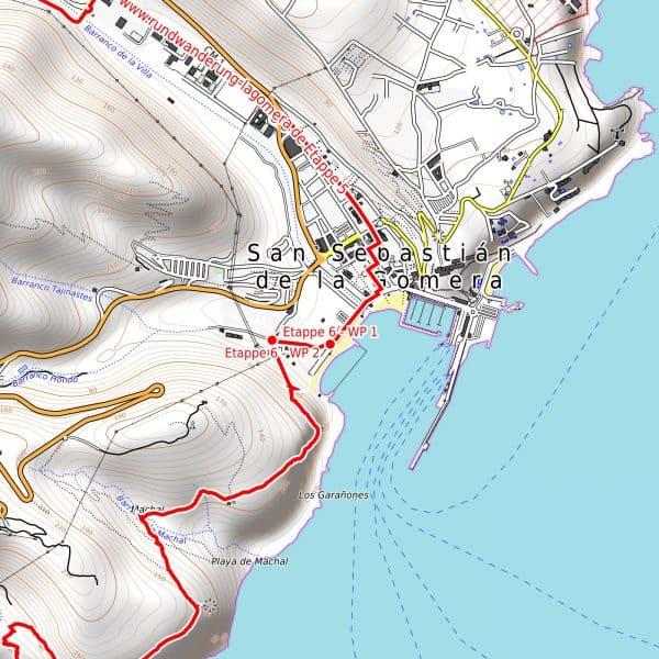 Vorschau pdf Wanderkarte La Gomera Auflösung 300 dpi